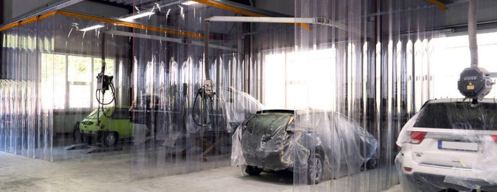 cortinas de tiras para industria