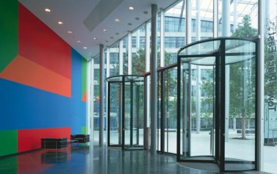puerta giratoria de cristal-k41