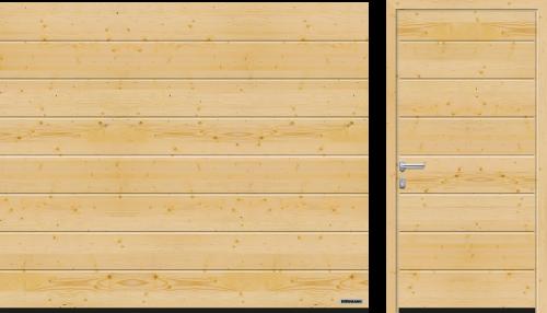 puerta seccional de madera